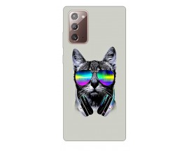 Husa Silicon Soft Upzz Print Samsung Galaxy Note 20 Model Cat