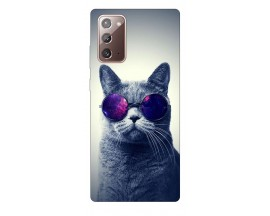Husa Silicon Soft Upzz Print Samsung Galaxy Note 20 Model Cool Cat