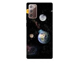 Husa Silicon Soft Upzz Print Samsung Galaxy Note 20 Model Earth