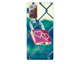 Husa Silicon Soft Upzz Print Samsung Galaxy Note 20 Model Heart Lock
