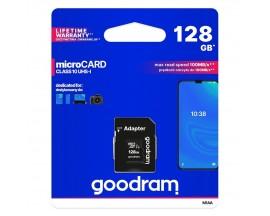 Card Microsd Goodram 128gb Uhs-i ,clasa 10 ,adaptor Sd