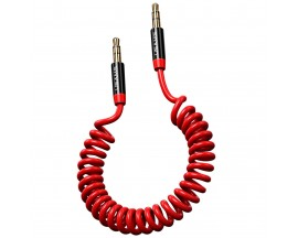 Cablu Audio Aux Jack La Jack 3.5mm Usams Spring 1,2m Rosu -SJ256YP02