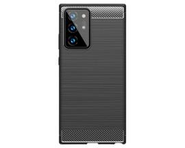 Husa Spate Upzz Carbon Compatibila Samsung Galaxy Note 20 ,Negru Rezistenta La Socuri