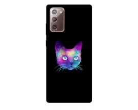 Husa Silicon Soft Upzz Print Samsung Galaxy Note 20 Model Neon Cat