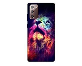 Husa Silicon Soft Upzz Print Samsung Galaxy Note 20 Model Neon Lion