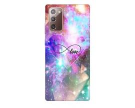 Husa Silicon Soft Upzz Print Samsung Galaxy Note 20 Model Neon love