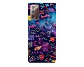 Husa Silicon Soft Upzz Print Samsung Galaxy Note 20 Model Neon