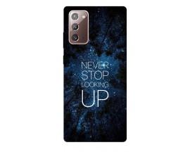 Husa Silicon Soft Upzz Print Samsung Galaxy Note 20 Model Never Stop