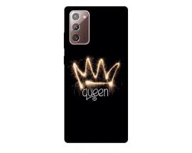 Husa Silicon Soft Upzz Print Samsung Galaxy Note 20 Model Queen