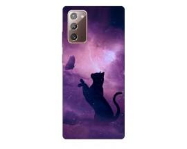 Husa Silicon Soft Upzz Print Samsung Galaxy Note 20 Model Shadow Cat