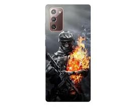 Husa Silicon Soft Upzz Print Samsung Galaxy Note 20 Model Soldier