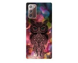Husa Silicon Soft Upzz Print Samsung Galaxy Note 20 Model Sparkle OWl