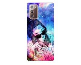 Husa Silicon Soft Upzz Print Samsung Galaxy Note 20 Model Universe Girl