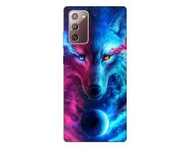 Husa Silicon Soft Upzz Print Samsung Galaxy Note 20 Model Three Wolf