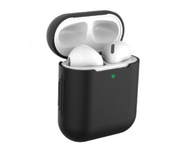 Husa Protectie Silicon Upzz Tech Icon Airpods 1/2 -Negru
