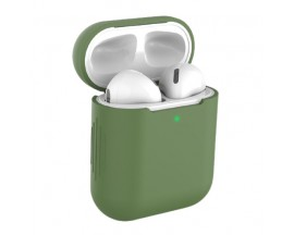 Husa Protectie Silicon Upzz Tech Icon Airpods 1/2 -Verde