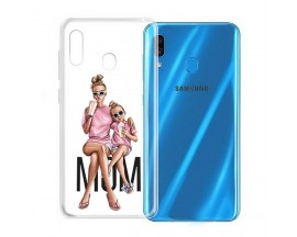 Husa Silicon Soft Upzz Print Samsung Galaxy A20e Model Mom1