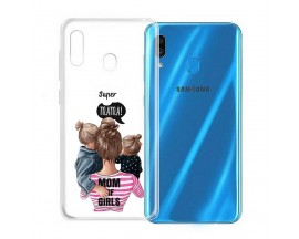 Husa Silicon Soft Upzz Print Samsung Galaxy A20e Model Mom3