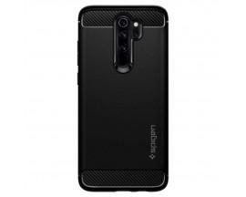 Husa Premium Originala Spigen Rugged Armor Xiaomi Redmi Note 8 Pro ,negru Silicon