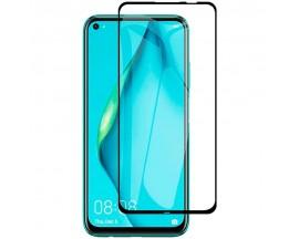 Folie Full Cover Upzz Case Friendly Huawei P40 Lite 5G Transparenta Cu Rama Neagra Adeziv Pe Toata Suprafata Foliei