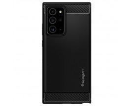 Husa Premium Originala Spigen Rugged Armor Samsung Galaxy Note 20 Ultra ,negru Silicon