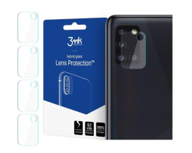 Set 4 X Folie Sticla Nano Glass 3mk Pentru Camera Samsung Galaxy A31, Transparenta