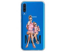 Husa Silicon Soft Upzz Print Samsung Galaxy A50 Model Mom1