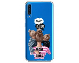 Husa Silicon Soft Upzz Print Samsung Galaxy A50 Model Mom3