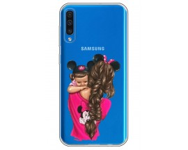 Husa Silicon Soft Upzz Print Samsung Galaxy A50 Model Mom4
