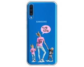 Husa Silicon Soft Upzz Print Samsung Galaxy A50 Model Mom5