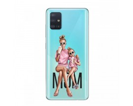 Husa Silicon Soft Upzz Print Samsung Galaxy A51 Model Mom1
