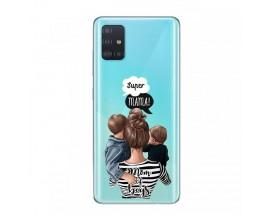 Husa Silicon Soft Upzz Print Samsung Galaxy A51 Model Mom2