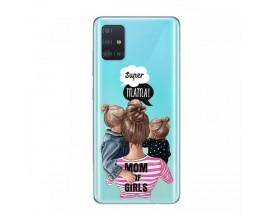 Husa Silicon Soft Upzz Print Samsung Galaxy A51 Model Mom3