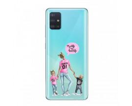 Husa Silicon Soft Upzz Print Samsung Galaxy A51 Model Mom5