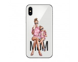 Husa Silicon Soft Upzz Print iPhone X / Xs Model Mom1