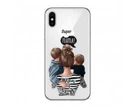 Husa Silicon Soft Upzz Print iPhone X / Xs Model Mom2