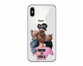 Husa Silicon Soft Upzz Print iPhone X / Xs Model Mom3