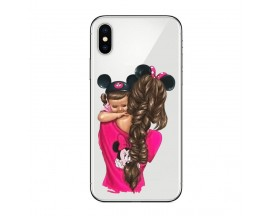 Husa Silicon Soft Upzz Print iPhone X / Xs Model Mom4