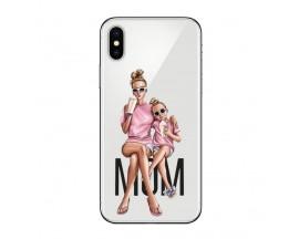Husa Silicon Soft Upzz Print iPhone Xs Max Model Mom1