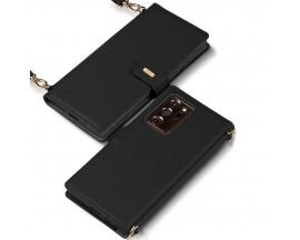 Husa Premium Tip Geanta Ringke Folio Signature Piele Naturala Samsung Galaxy Note 20 Ultra ,Negru- FS81R55