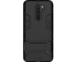 Husa Spate Upzz Kickstand Armor Hybrid Compatibila Cu Xiaomi Redmi Note 8 Pro ,negru