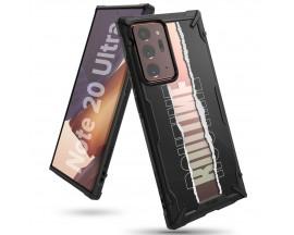 Husa Premium Ringke Fusion X Samsung Galaxy Note 20 Ultra Design Routine ,negru