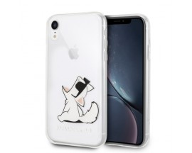 Husa Spate Premium Karl Lagerfeld iPhone Xr, Choupette Fun, Transparenta - KLHCI61CFNRC