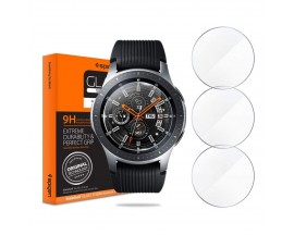 Folie Protectie Ecran Spigen Glass Tr Slim Compatibil Cu Samsung Galaxy Watch 46mm, 3 Bucati In Pachet