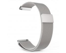 Curea Ceas Upzz Tech Milaneseband Compatibila Cu Samsung Gear S3 ,Silver