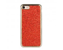 Husa Lux Fashion Glitter iPhone 5s/SE Red Gold