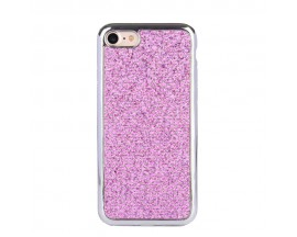 Husa Lux Fashion Glitter iPhone 5s/SE Silver Pink