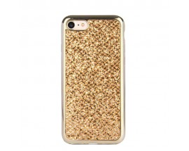 Husa Lux Fashion Glitter iPhone 5s/SE Gold