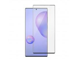 Folie Full Cover Nano Glass Flexible Bestsuit Samsung Galaxy Note 10+ Plus ,transparenta Cu Margine Neagra -merge Amprenta