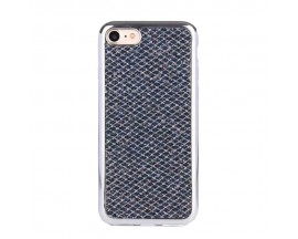 Husa Lux Fashion Glitter iPhone 5s/SE Silver Black